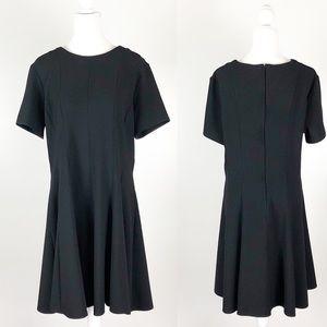 Dorothy Perkins Black Short Sleeve Skater Dress